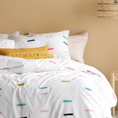 Thread Lightly embroidered doona cover