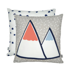 Snowy mountain cushion