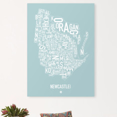 Newcastle canvas print (various colours)