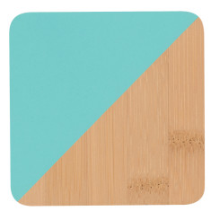 Dipped Bamboo Coasters Pool Set/4