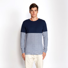 Block Stripe Long Sleeve Tee