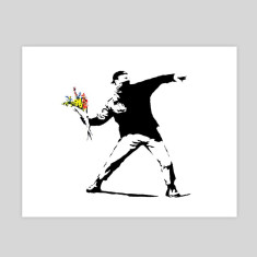 Flower Chucker by Banksy art print