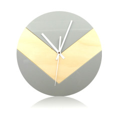 Reverse V clock in grey