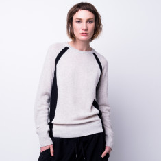 Raglan elbow patch crew