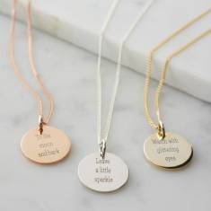 Personalised life quotes necklace