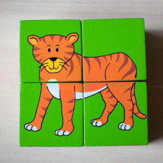 Jungle wooden block puzzle