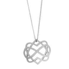 Two hearts and Infinity symbol pendant