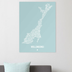 Wollongong canvas print (various colours)