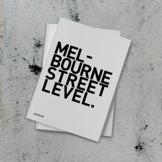 Melbourne Street Level Stencil Graffiti Book