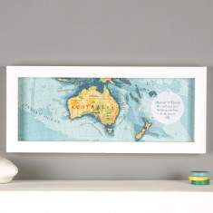 Personalised hand drawn Australia map print