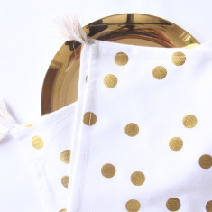 Gold foil confetti tea towel