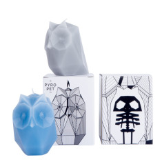 Pyropet ugla skeleton candle