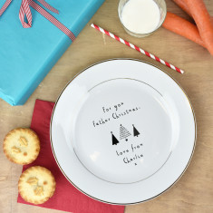 Father Christmas Personalised Treat Plate