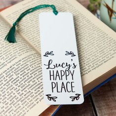 Personalised Happy Place Bookmark