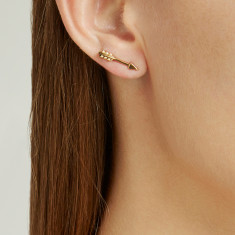 Arrow studs 18k gold vermeil