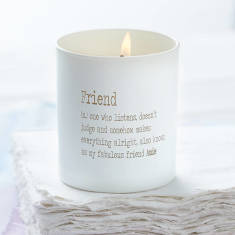Personalised Friend Dictionary Candle