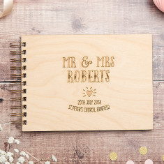 Mr And Mrs Heart Wedding Guest Book