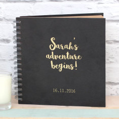 Personalised Gold Foil Adventure Album