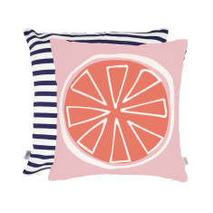 Summer citrus cushion in orange