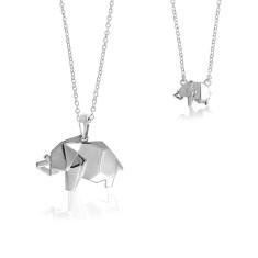 Elephant origami necklace