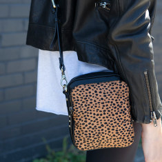 Law of the wild leather bag in cheetah
