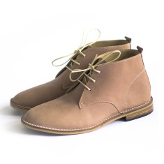 Desert sand leather boots