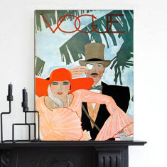 Vogue Cover Couple | Canvas Art