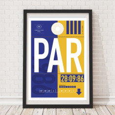Parramatta Eels luggage tag wall art