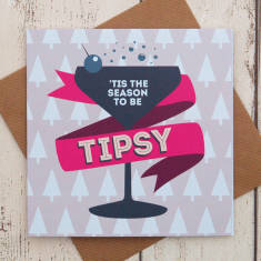 Tis the season to be tipsy Christmas card
