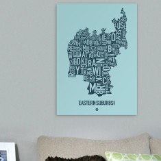 Eastern Suburbs Sydney canvas print (various colours)