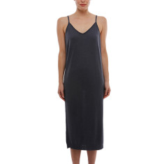 Cashmere slip dress in charcoal grey