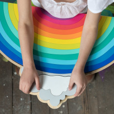 iconic wooden toy rainbow jigsaw