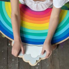 iconic wooden toy rainbow jigsaw