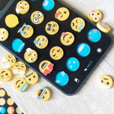 Iconic wooden toy emoji jigsaw