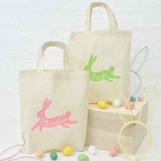 Personalised Bunny Rabbit Easter Egg Hunt Bag