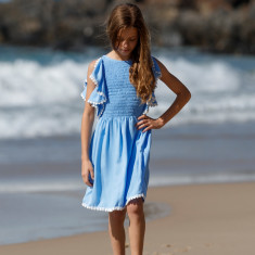 Annie dress in Jacaranda blue
