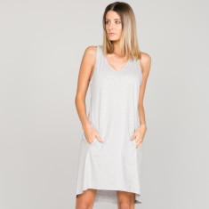 Rosie Dress in organic cotton grey