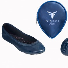 Flipsters foldable flat shoes in navy