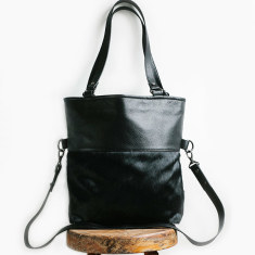 Wasteland leather bag in black/fur