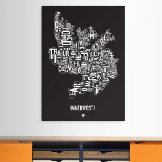Inner West canvas print (various colours)