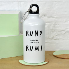 Run rum water bottle