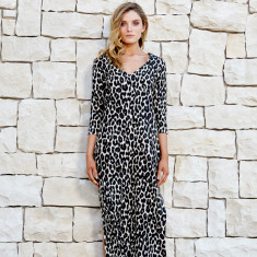The Rottnest kaftan in animal print