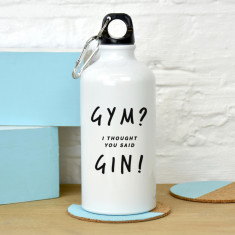Gym gin water bottle