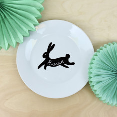 Easter Personalised Bunny Rabbit Side Plate
