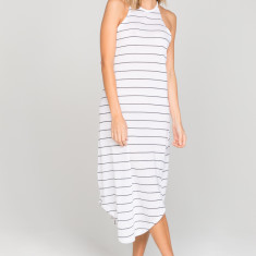 Ava Maxi Dress in Black Stripe