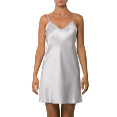 Silk Chemise in Silver