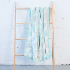 Pastel Mint Kilim blanket