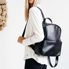 People like us leather backpack in black