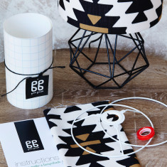 DIY Bedside Shade Kit In Glyph Design