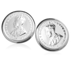 King George V Australian threepence coin stud earrings